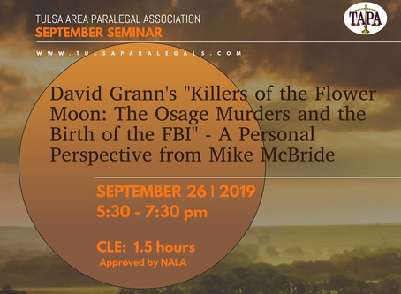 """CLUSTER 4 Event: David Grann's """"Killers of the Flower Moon..."""""""