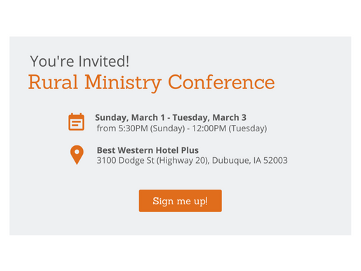 SAVE THE DATE: 2020 RURAL MINISTRY CONFERENCE