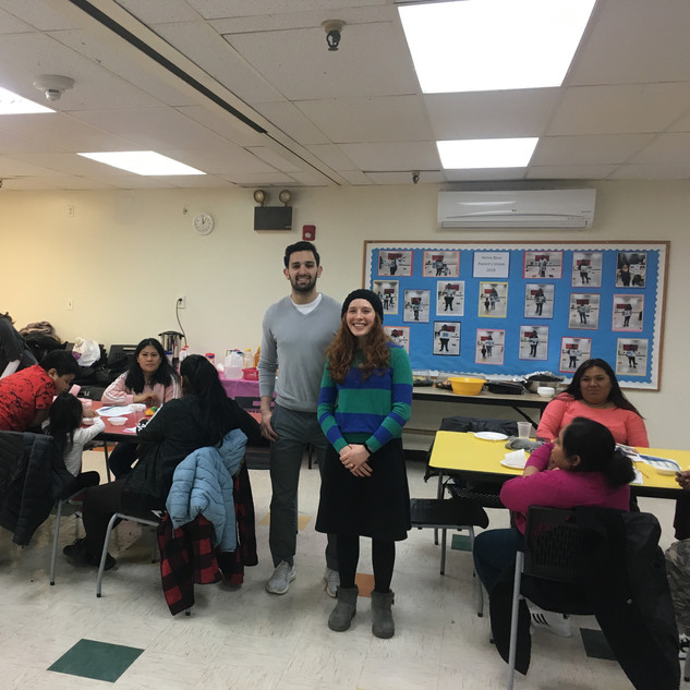 DI Interns conducting a Nutrition Education Workshop for the Home Base program at CMCS