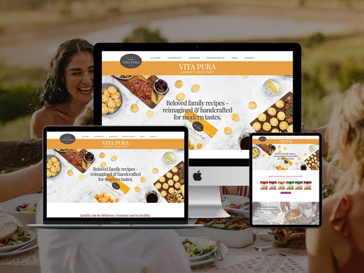 Vita Pura Gourmet Cheese Puff Website Redesign