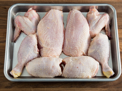 how to BREAK DOWN A WHOLE CHICKEN into 8 pieces