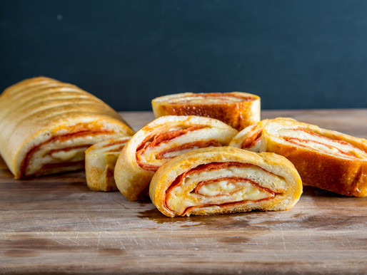 Stromboli with Pepperoni and Cheese