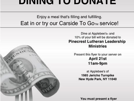 Applebee's Dining to Donate Event!