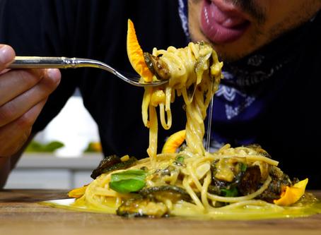 AUTHENTIC SPAGHETTI and FRIED ZUCCHINI pasta (spaghetti alla nerano)