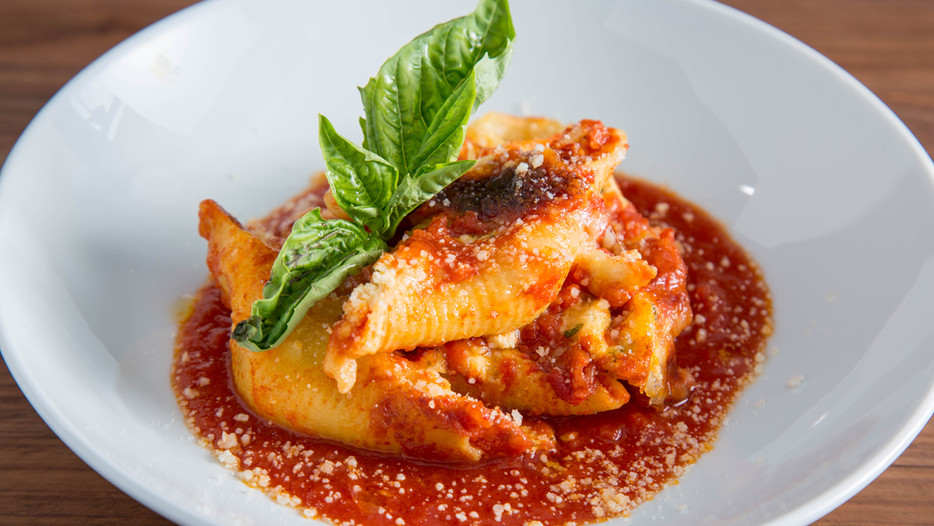 how to make CLASSIC BAKED STUFFED SHELLS with a lemon ricotta filling