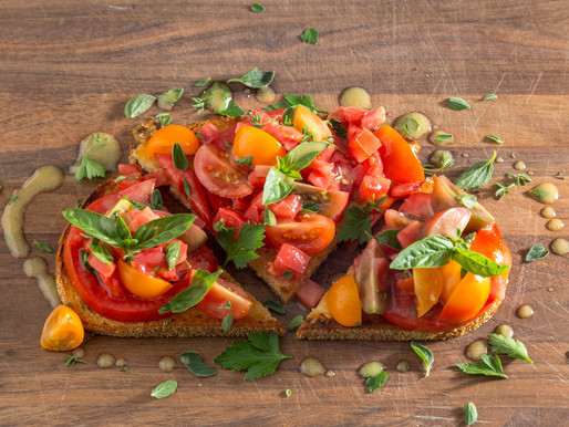 how to make FRESH TOMATO BRUSCHETTA