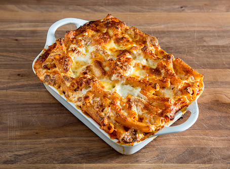 how to make BAKED ZITI (PASTA AL FORNO)