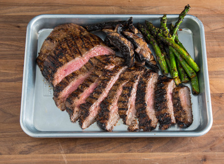 Grilled Marinated Flank Steak with Grilled Veggies