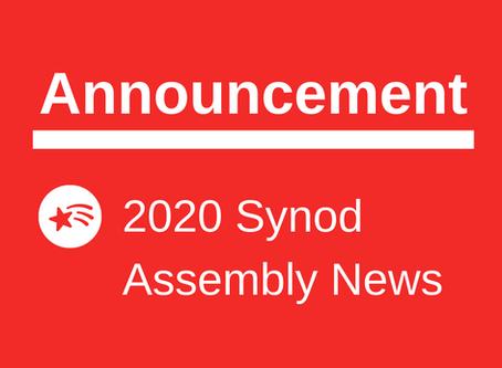 2020 Synod Assembly News