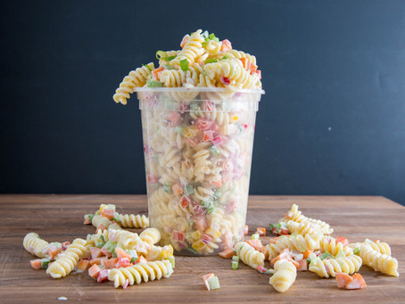 creamy deli style PASTA SALAD you'll actually want to eat