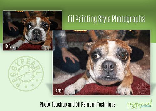 Custom Oil Painting Style Pet Photo Enhancement