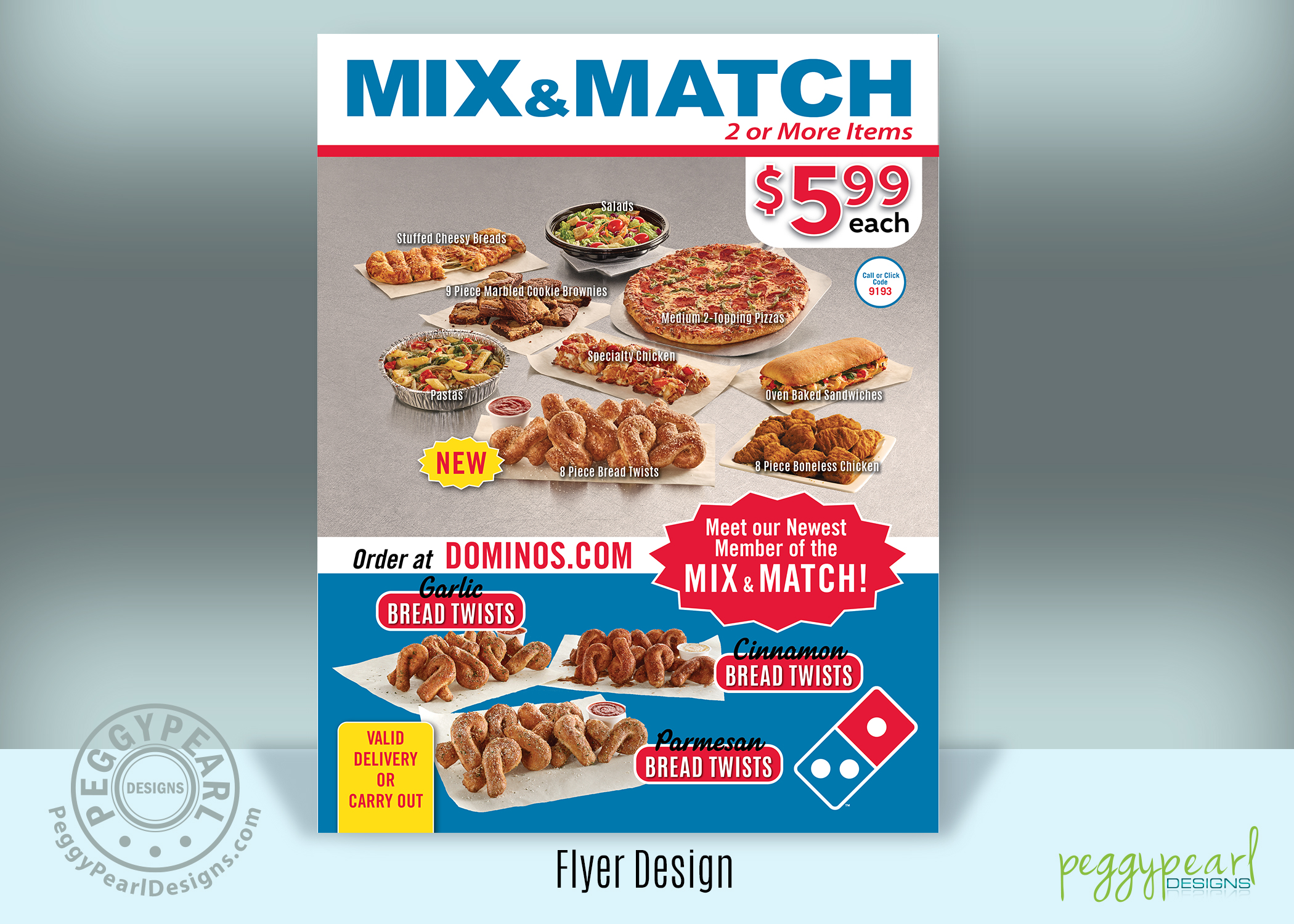 Domino's Flyer Mix and Match