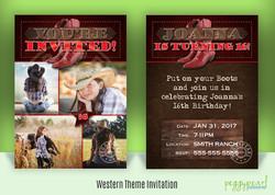 Invitation Western Theme