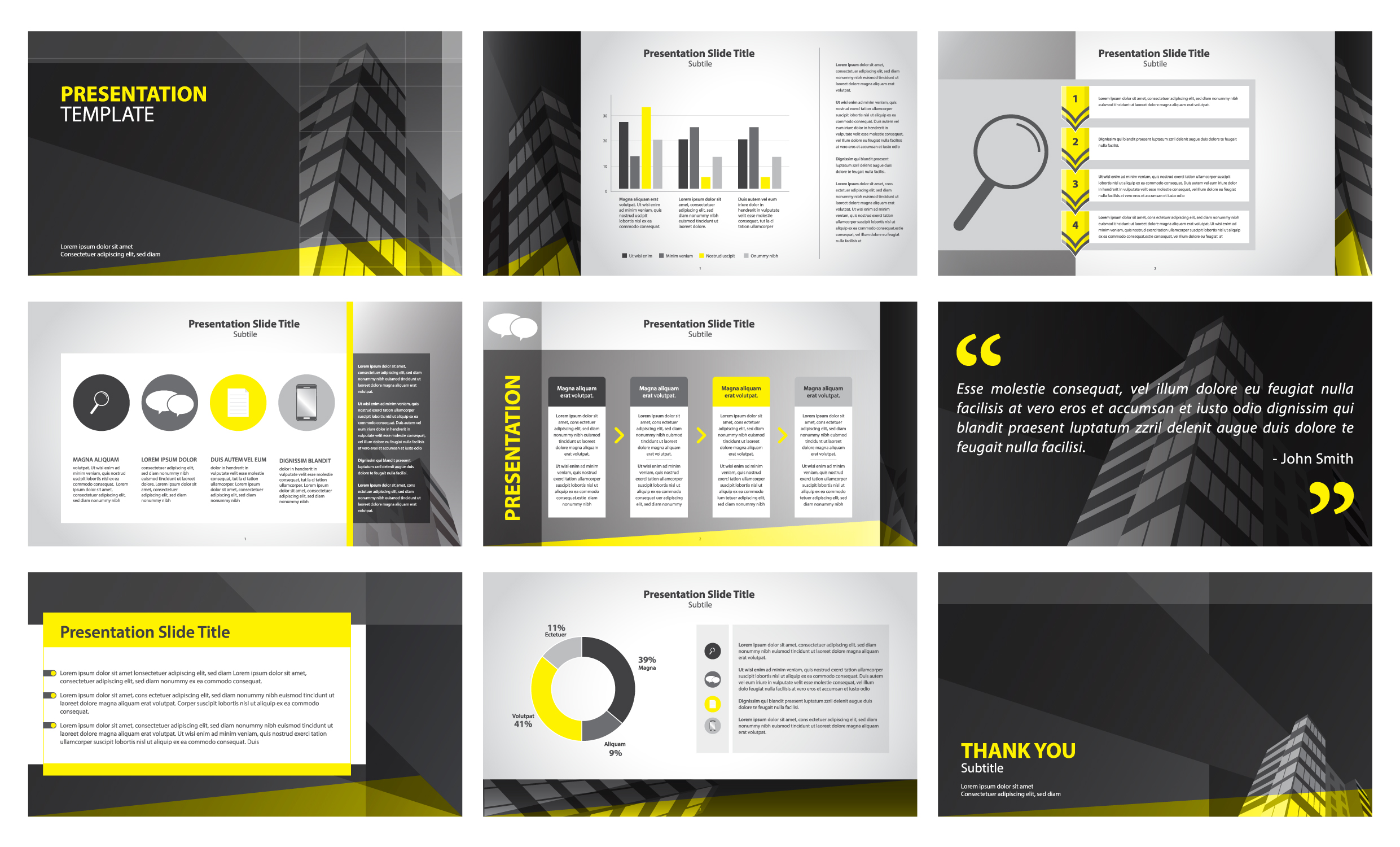 Business Presentation Yellow