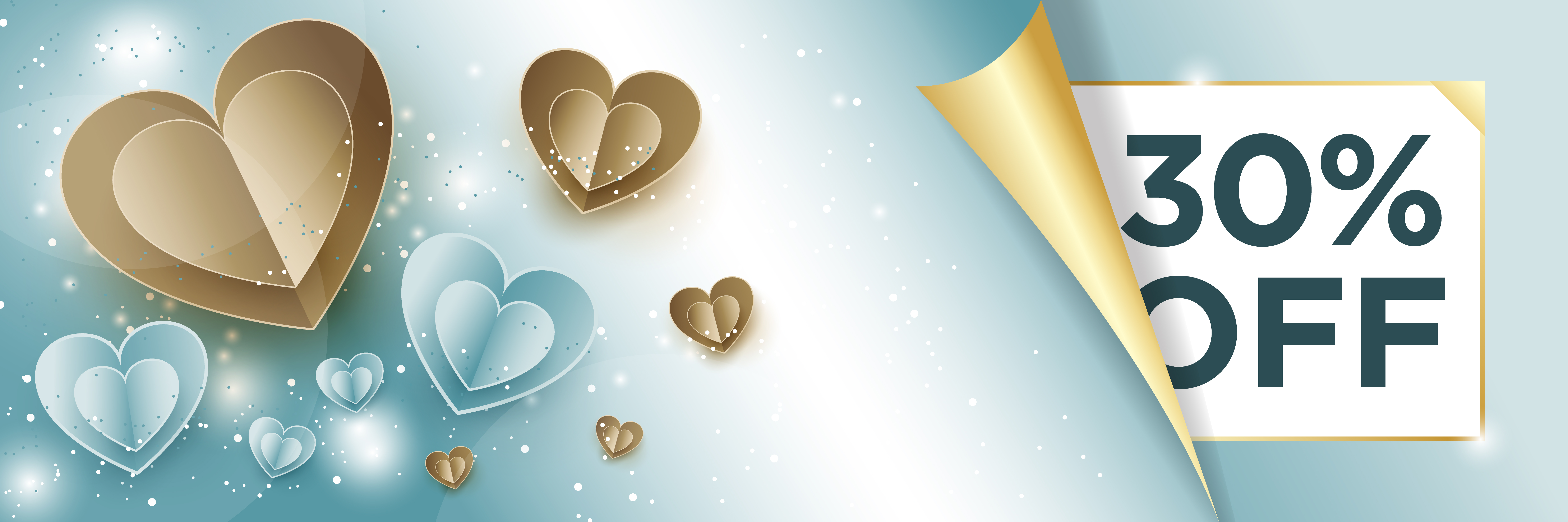 Web Banner gold-and-blue-hearts