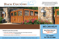 Advertisement: Back Country Views