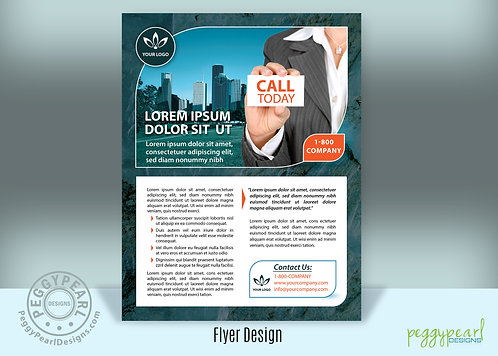 Professional Corporate Flyer Design - Blue
