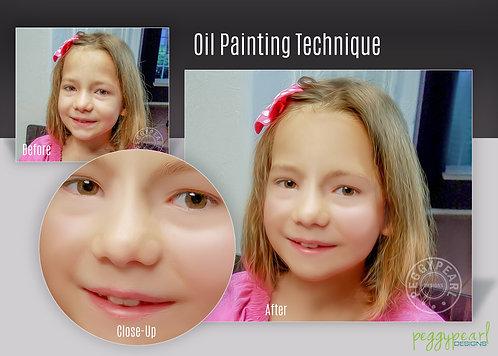 Custom Oil Painting Style Photo Enhancement Child