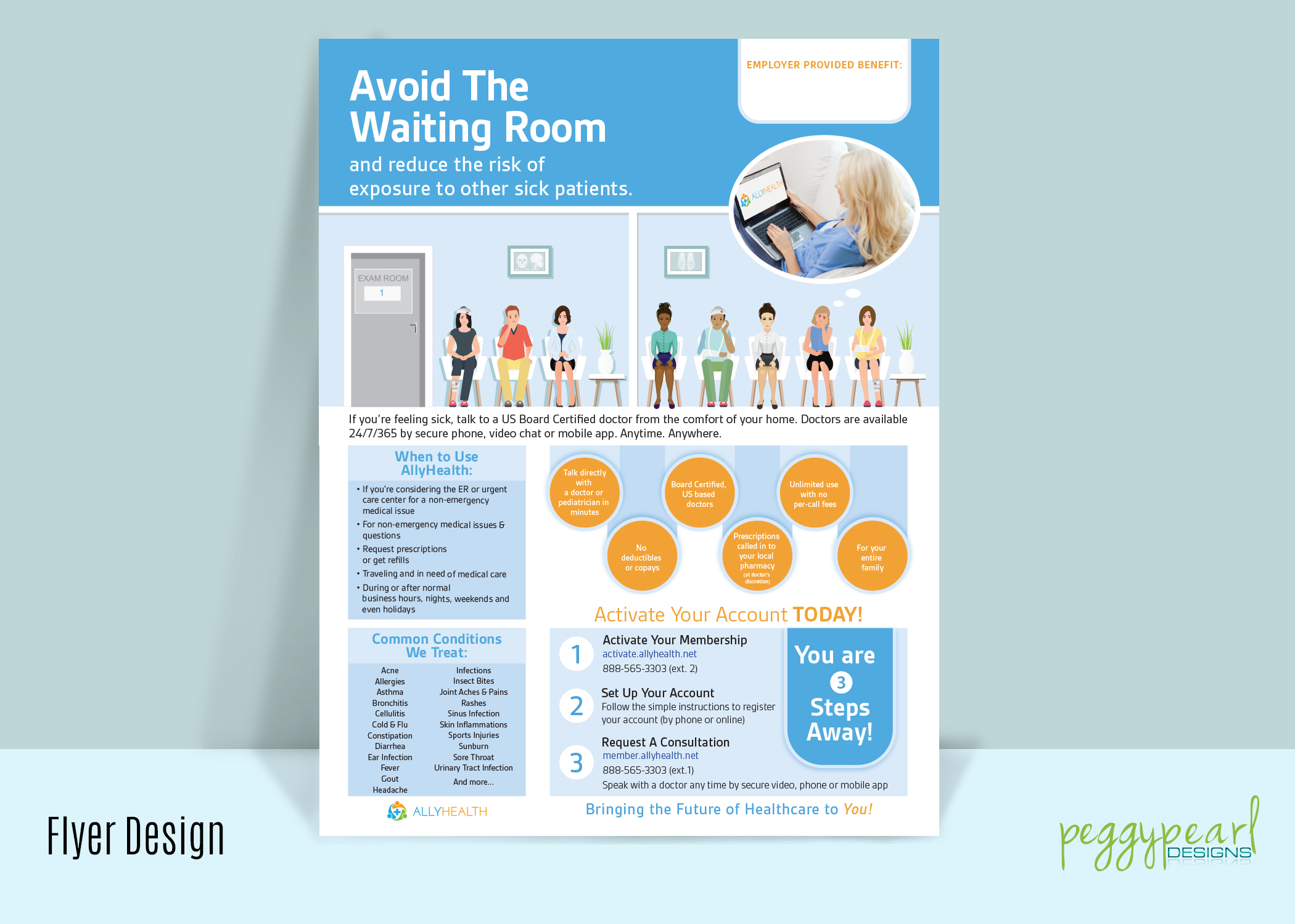 Flyer AllyHealth Avoid Waiting Rooms