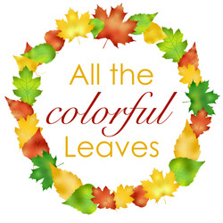 Colorful Leaves Wreath