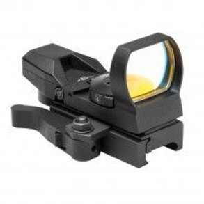 ZOMBIE DOT SIGHT/4 DIFFERENT ZOMBIE RETICLES/GREEN/QUICK RELEASE MOUNT/BLACK