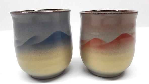 kutani_bicchieri per il te_ceramica giapponese_yunomi