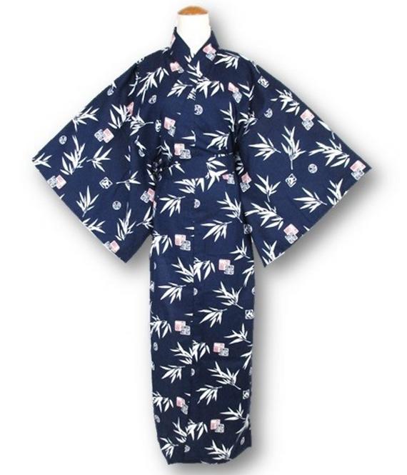 "Kimono yukata ""BLUE TAKE"""