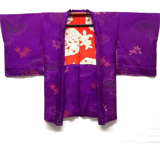 giacca haori da donna viola