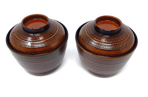 ciotole da miso giapponesi mokume