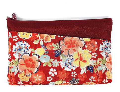 astucci in seta giapponese rosso