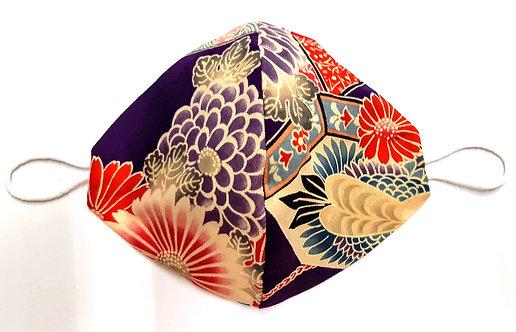"""Mascherina giapponese """"和柄マスク flowering"""""""