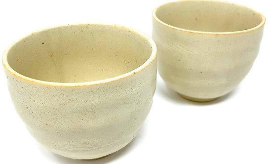 bicchieri da tè giapponesi ceramica bianca