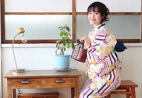 "Kimono yukata ""ライン柄"""