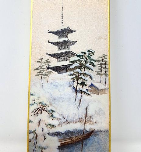 dipinto giapponese pagoda kyoto