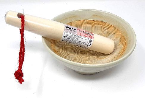 suribachi giapponese mortaio e pestello