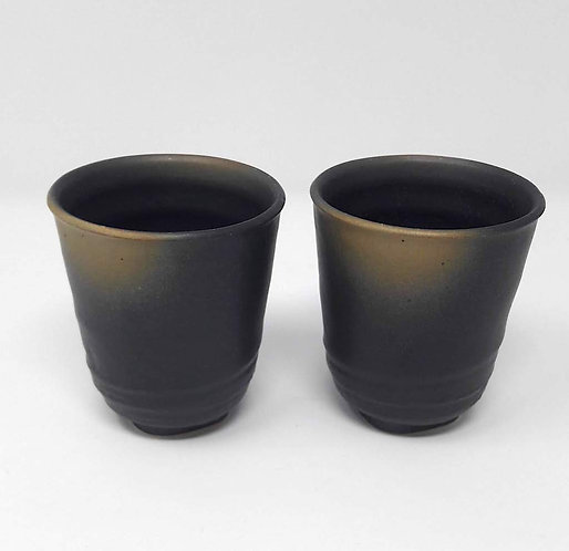 tazze da tè giapponesi yunomi marroni