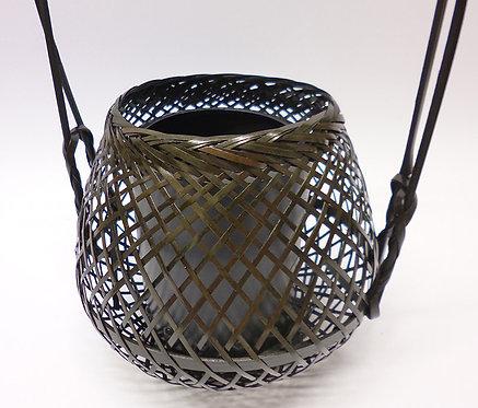 cestino vaso bamboo ikebana