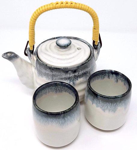 set teiera con  tazze giapponesi da tè
