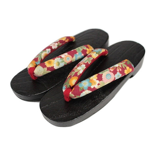 "geta ""RED kuro FLOWER"""