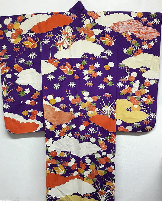 "Kimono "" FURISODE MURASAKI SEASONS"""