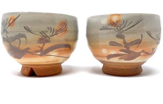 tazze da tè giapponesi dipinte a mano