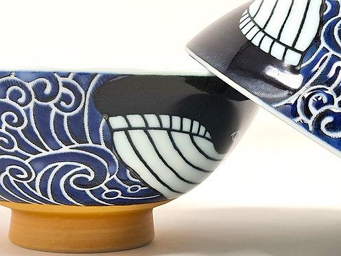 🍚 Set Ciotole donburiya giapponesi - くじら KUJIRA