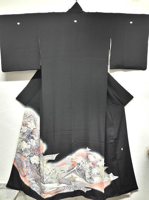 """Kimono """" KUROTOMESODE TABANE NOSHI"""""""