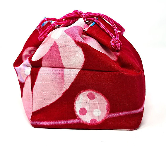 borse giapponesi kinchaku rosso