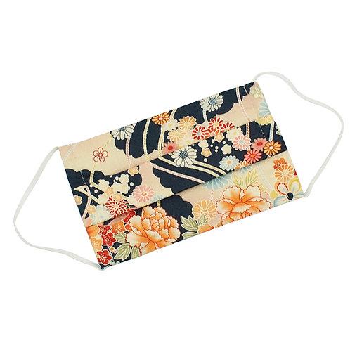"""Mascherina giapponese """"kuro flower"""""""
