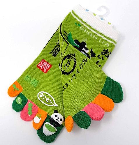 Calzini giapponesi tabi cinque dita verdi