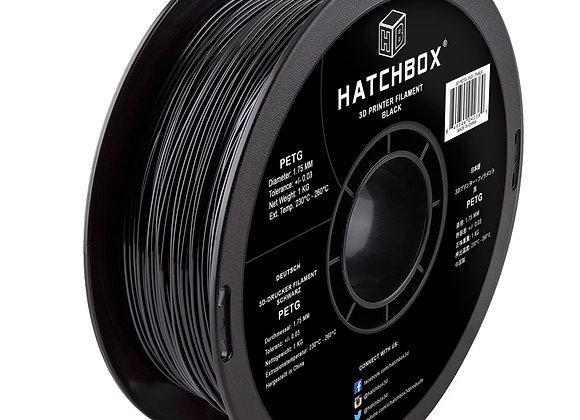 PETG Hatchbox / Negro / 1Kg / 1.75mm