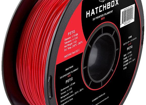 PETG Hatchbox / Rojo / 1Kg / 1.75mm