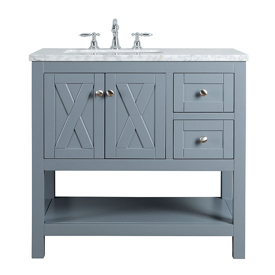 "Anabelle 36"" Grey Single Sink Vanity"