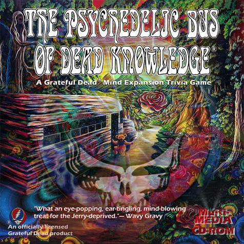 Cover for the Psychedelic Bus of Dead Knowledge CD_ROM game. The case was a holigram of sorts, and reflected three different images.